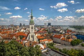 bratislava, города, братислава , словакия, панорама