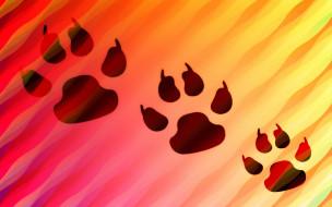 векторная графика, животные , animals, след