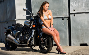 мотоциклы, мото с девушкой, moto