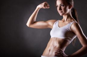 девушка, спорт, гимнастика, фитнес