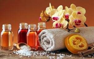 разное, косметические средства,  духи, орхидея, полотенце, соль