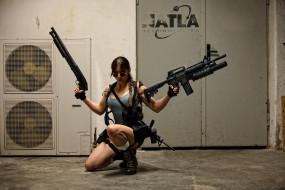обои для рабочего стола 1920x1280 разное, cosplay , косплей, девушка, оружие, взгляд, фон