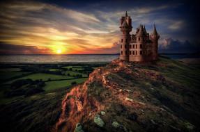 обои для рабочего стола 2048x1360 города, - дворцы,  замки,  крепости, рассвет