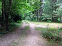 природа, дороги, деревенская