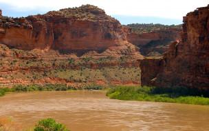 природа, горы, вода, зелень