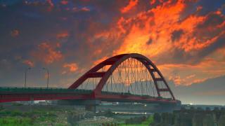 города, - мосты, рассвет