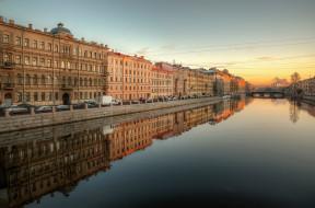 города, санкт-петербург,  петергоф , россия, река, фонтанка