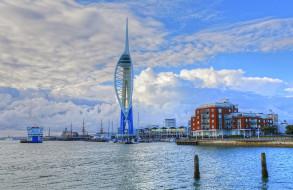 portsmouth, города, - панорамы, башня