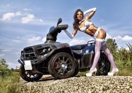 мотоциклы, мото с девушкой, авто, девица