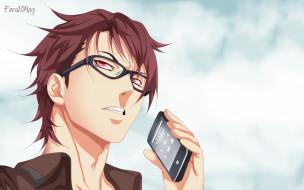 аниме, shokugeki no soma, парень, взгляд, фон