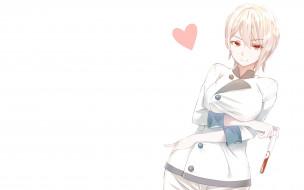 аниме, shokugeki no soma, фон, взгляд, девушка