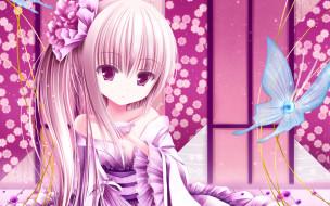 аниме, tinkerbell , artbook, взгляд, девушка, фон