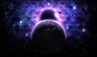 космос, арт, вселенная, планеты, галактика, звезда