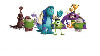 мультфильмы, monsters university, персонажи