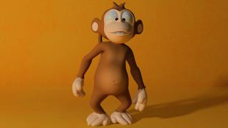 3д графика, юмор , humor, обезьяна