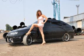 ваз- 2112, автомобили, -авто с девушками, девушка, ваз-, 2112