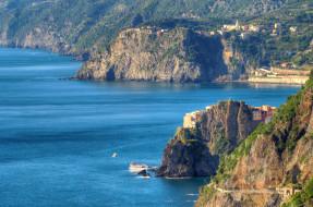 города, - пейзажи, италия, горы, дома, море, лигурийское, побережье, манарола, скалы, Чинкве-терре