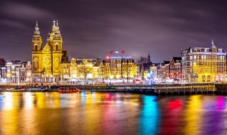 города, амстердам , нидерланды, amsterdam, амстердам