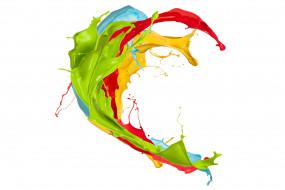 3д графика, абстракция , abstract, узор, фон, цвета, брызги