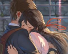 аниме, kimi no na wa, miyamizu, mitsuha, tachibana, taki, kimi, no, na, wa, арт, таки, парень, девушка, твоё, имя, митсуха