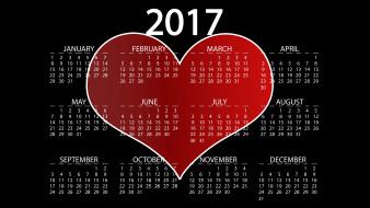 календари, рисованные,  векторная графика, сердечко