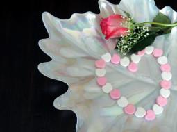 праздничные, день святого валентина,  сердечки,  любовь, роза, сердечко