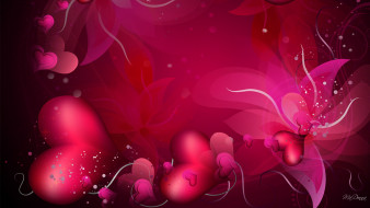 праздничные, день святого валентина,  сердечки,  любовь, фон, сердечки