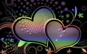 праздничные, день святого валентина,  сердечки,  любовь, сердечки, фон