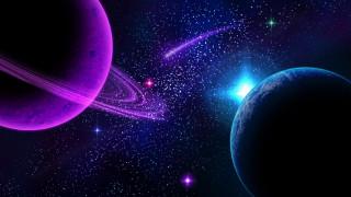 космос, арт, планеты, вселенная, галактика, звезды