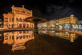 eltz castle - germany, города, - огни ночного города, площадь, ночь