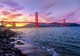 города, - мосты, golden, gate, bridge, мост, золотые, ворота, сан, франциско