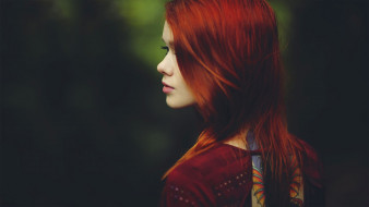 девушки, -unsort , лица,  портреты, рыжая, профиль, лицо