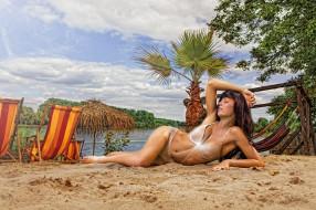 девушки, -unsort , брюнетки,  шатенки, песок, вода