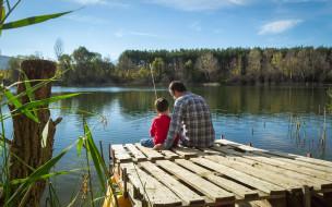 разное, рыбалка,  рыбаки,  улов,  снасти, сын, папа