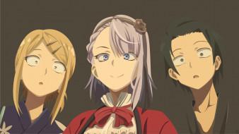 обои для рабочего стола 1920x1080 аниме, dagashi kashi, персонажи