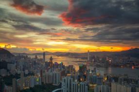 города, гонконг , китай, дома