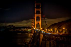 города, - мосты, мост, золотые, ворота, сан, франциско, golden, gate, bridge