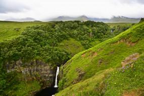 природа, водопады, поток, лето