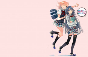 аниме, oregairu, девушки