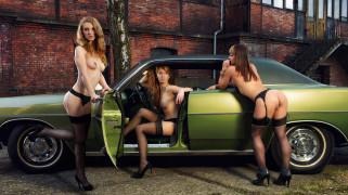 эротика, девушки и автомобили, девушки, автомобиль, car, разные, улица