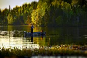 разное, рыбалка,  рыбаки,  улов,  снасти, удочка, рыбак, лодка, река, собака
