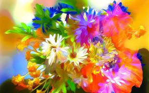 разное, компьютерный дизайн, букет, цветы