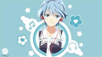 fuuka, аниме, фон, взгляд, девушка