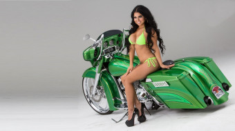 мотоциклы, мото с девушкой, девушка, мотоцикл