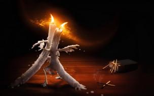 огонь, Свечи, спички, воск, танец