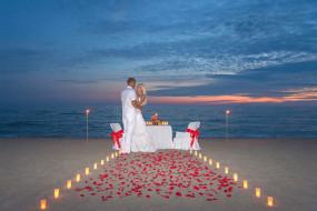 разное, мужчина женщина, море, пляж, свадебный, вечер