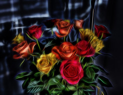 разное, компьютерный дизайн, розы
