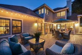 интерьер, веранды,  террасы,  балконы, дом, вечер, терраса, кресла