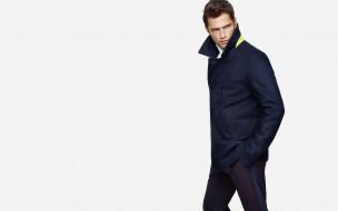 парень, модель, штаны, пальто