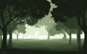 деревья, фон